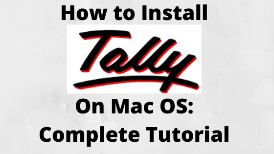 how to download tally erp 9 on macbook