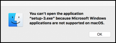 Can't Open Windows Applications on Mac