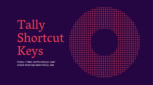 Important Keyboard Shortcut Keys in Tally ERP 9