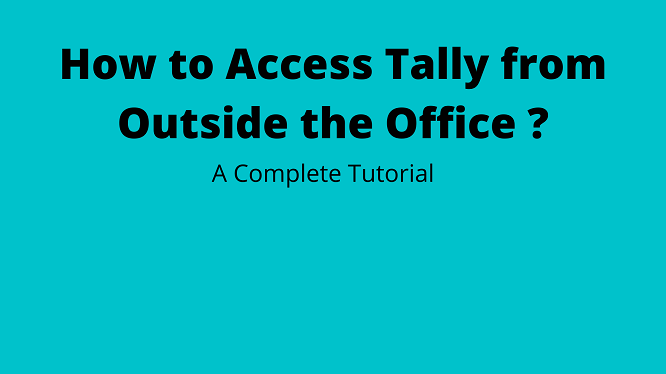 tally remote access