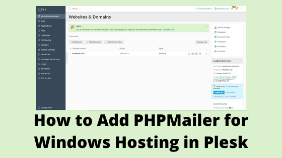 how to include phpmailer in plesk