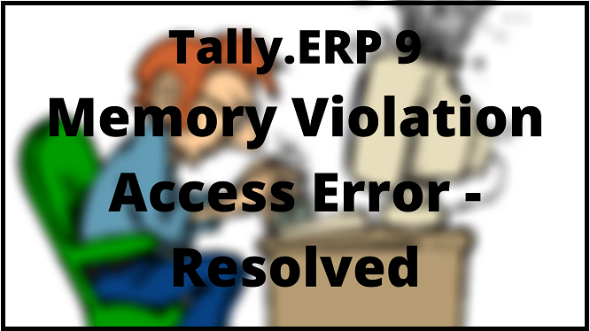 how to fix tally internal error