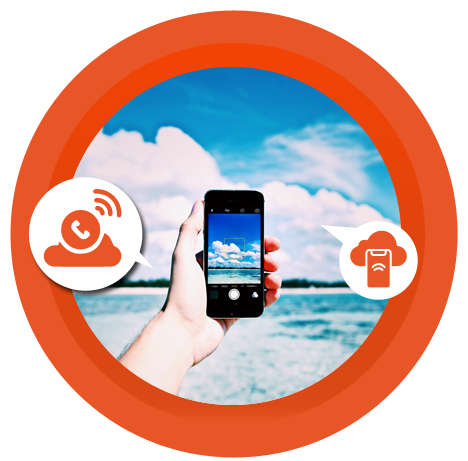 hosted cloud-telephony system